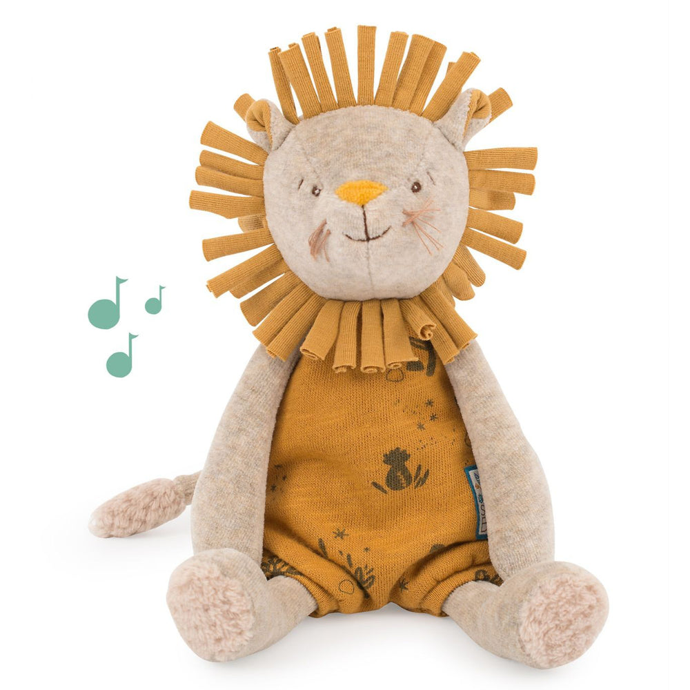 Peluche Musicale - Carillon Leone Paprika 28cm | Moulin Roty | 669041