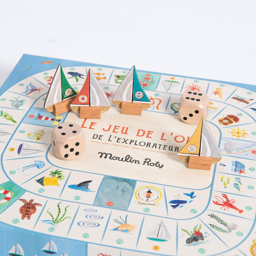 Gioco dell'Oca Esploratore Les Grands Explorateurs | Moulin Roty 712416