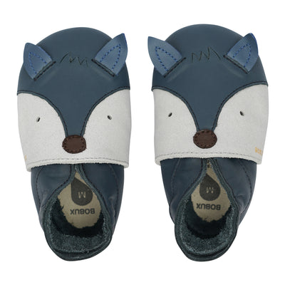 Scarpa Soft Sole Foxy Navy Volpe Blu Scuro | BOBUX Primi Movimenti