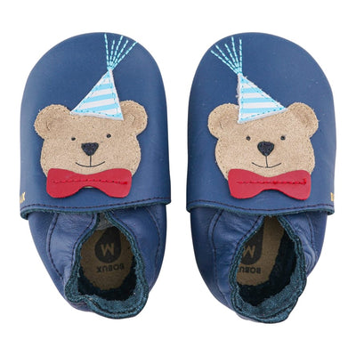 Scarpa Soft Sole Party Bear Navy | BOBUX Primi Movimenti