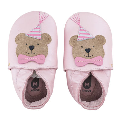 Scarpa Soft Sole Party Bear Blossom | BOBUX Primi Movimenti