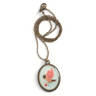 Collana con Pendente Ovale, Lovely Sweet, Uccello | Djeco DD03825