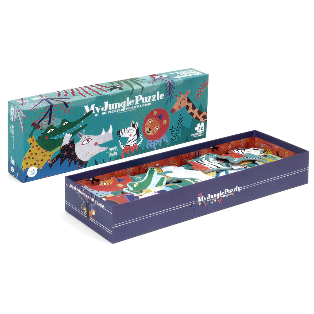 Puzzle Giungla Progressivo - My Jungle 22pz, 3 anni + | Londji
