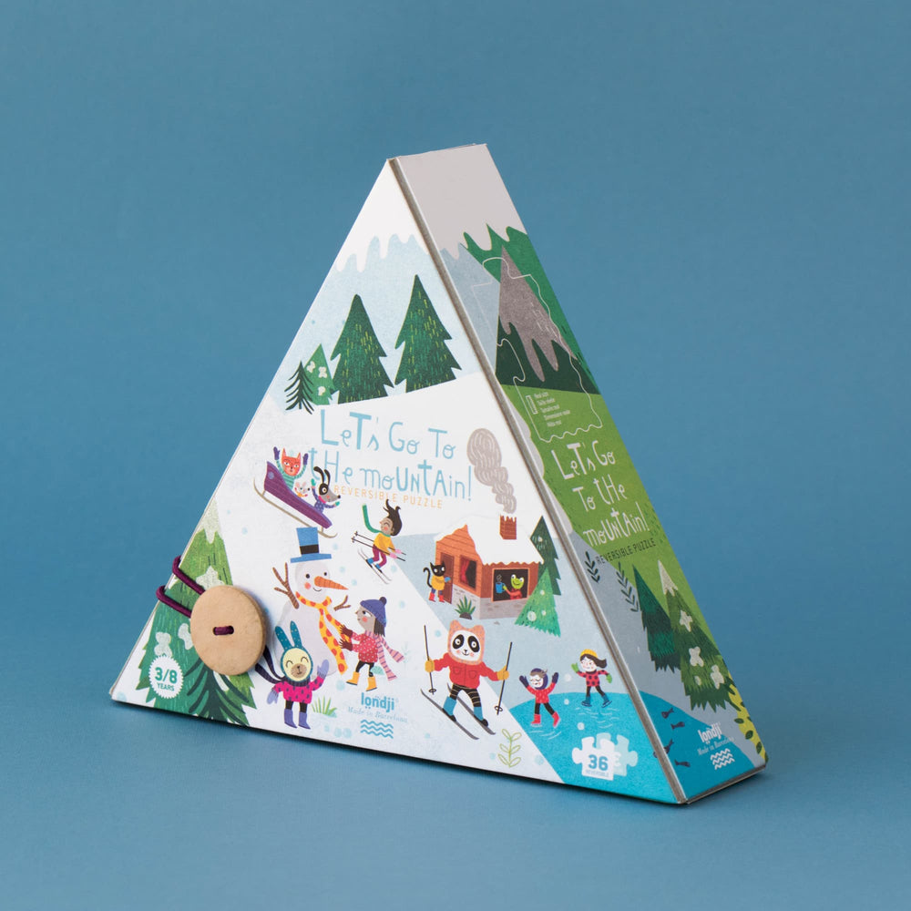 Puzzle Reversibile La Montagna - The Mountain 36pz, 3/8 anni | Londji