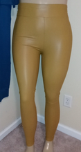 Load image into Gallery viewer, High waisted leatherette leggings
