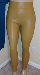 High waisted leatherette leggings