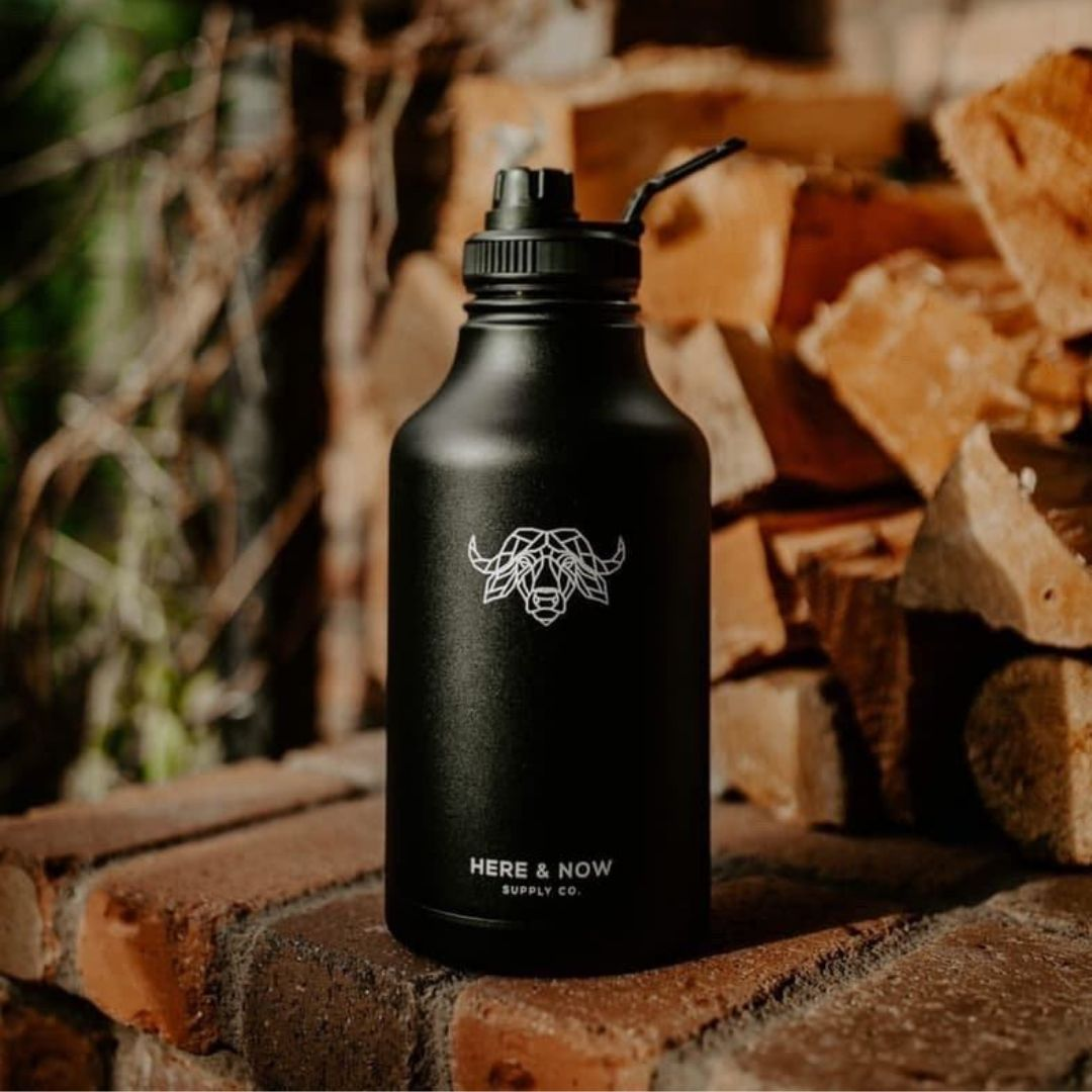 Fortitude - 64 oz Insulated Growler with Carry Bag and Sports Spout Insulated Drinkware Here & Now Supply Co.