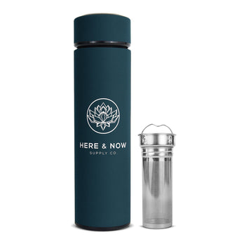 Insight - 16 oz Infuser Bottle Infuser Bottle Here & Now Supply Co. Midnight Teal #color_midnight-teal