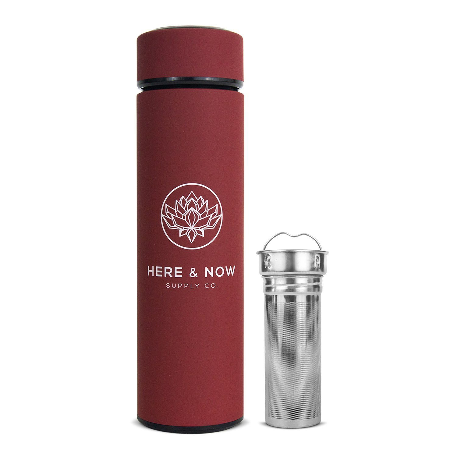 Insight - 16 oz Infuser Bottle Infuser Bottle Here & Now Supply Co. Sacred Red #color_sacred-red