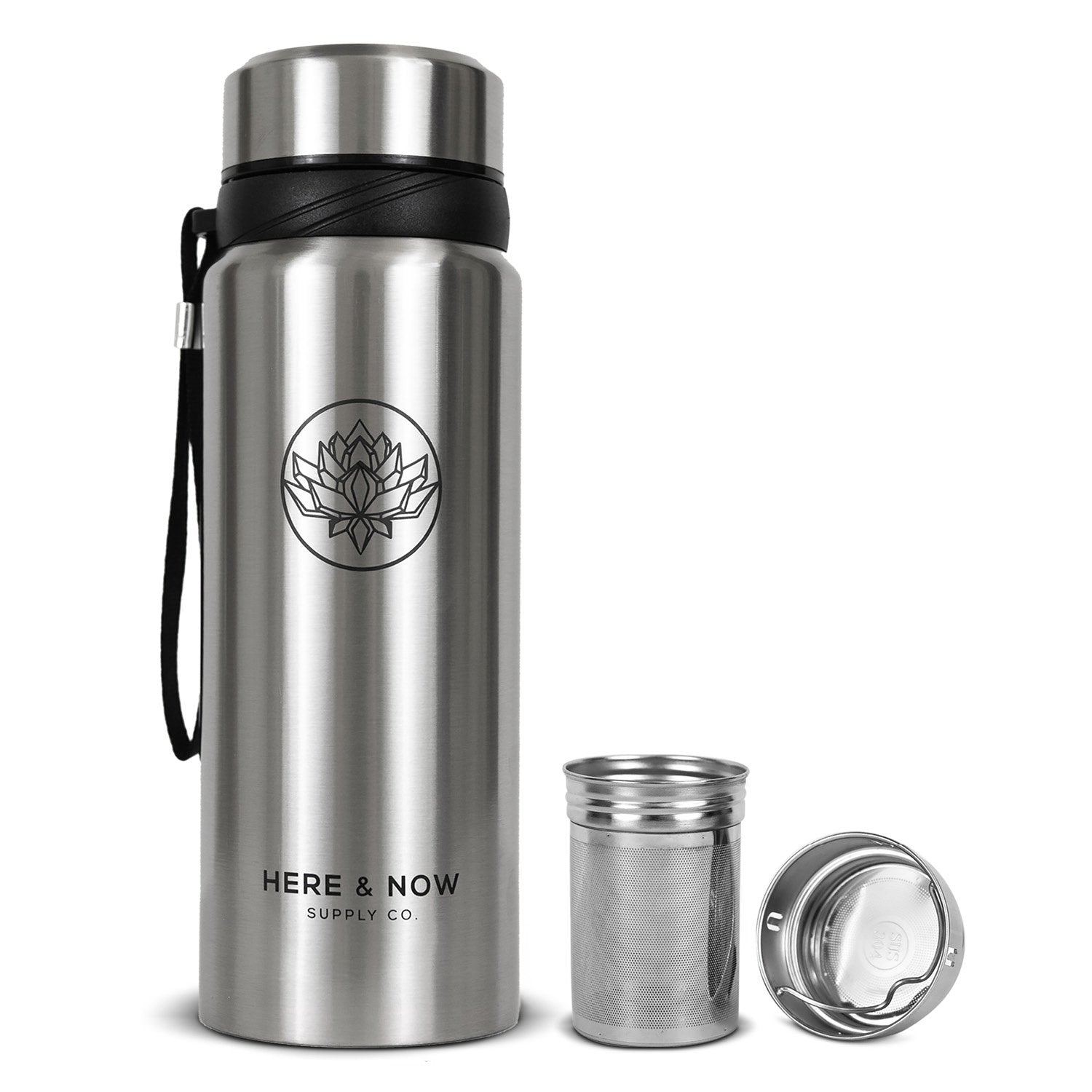 Nova - 25 oz Infuser Bottle Infuser Bottle Here & Now Supply Co. Cosmic Silver #color_cosmic-silver