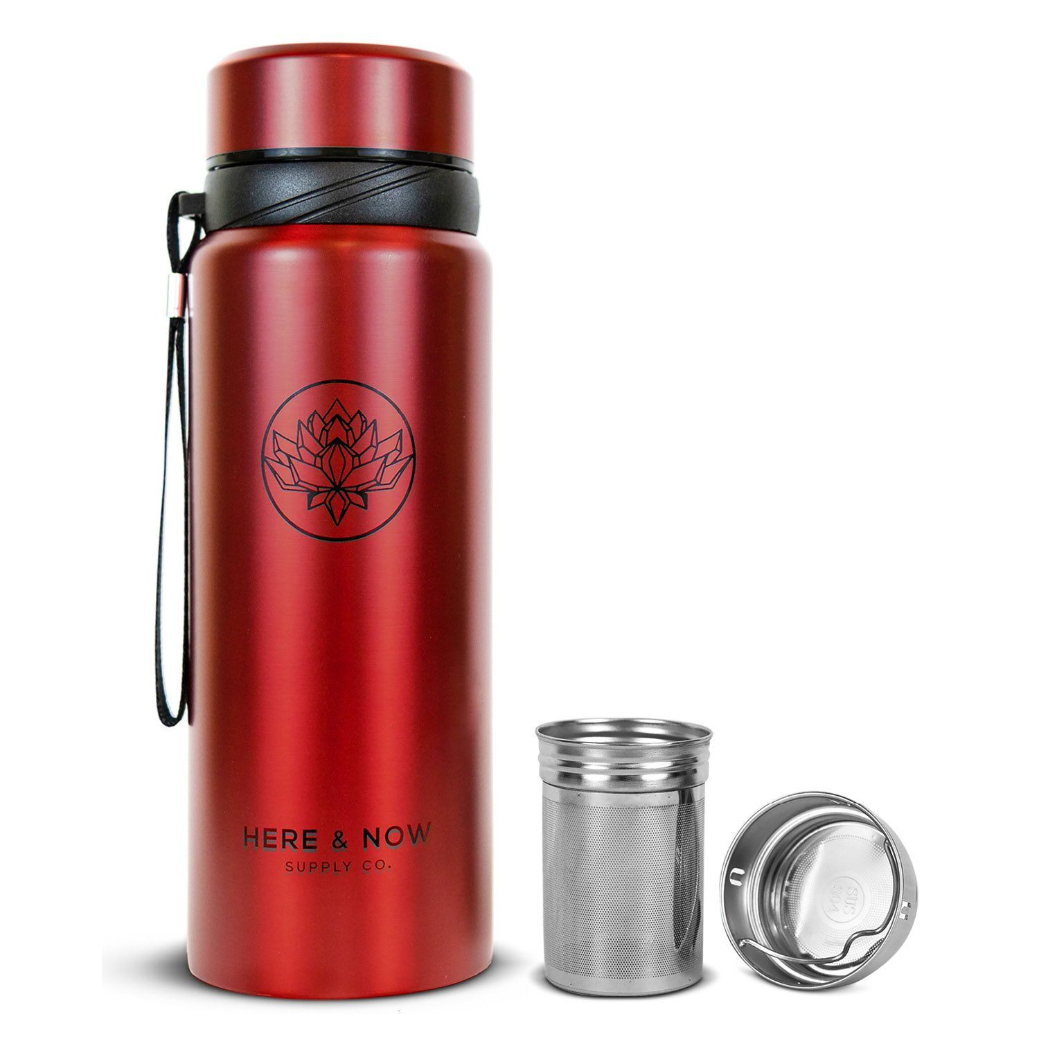 Nova - 25 oz Infuser Bottle Infuser Bottle Here & Now Supply Co. Nova Red #color_nova-red