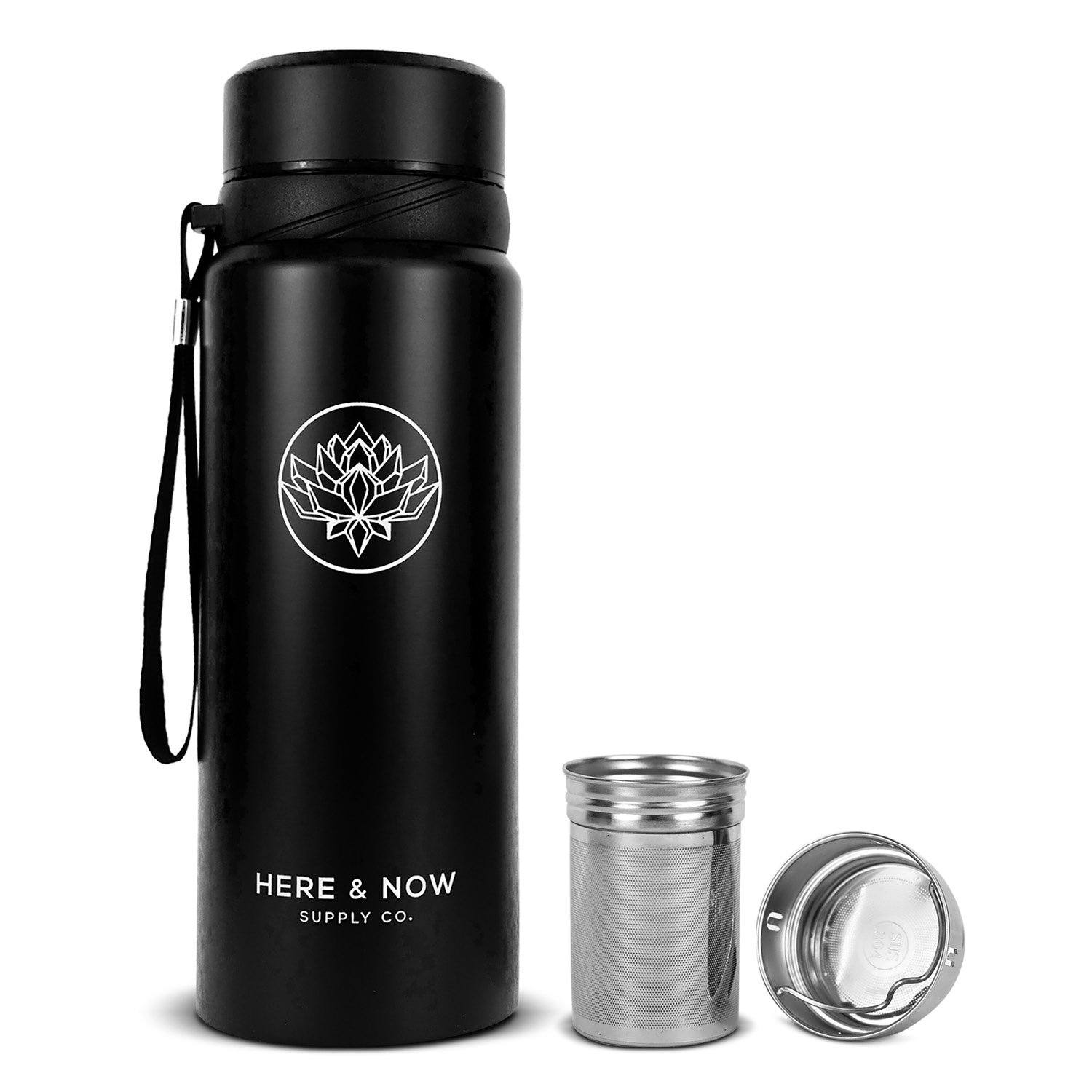 Nova - 25 oz Infuser Bottle Infuser Bottle Here & Now Supply Co. Zen Black #color_zen-black