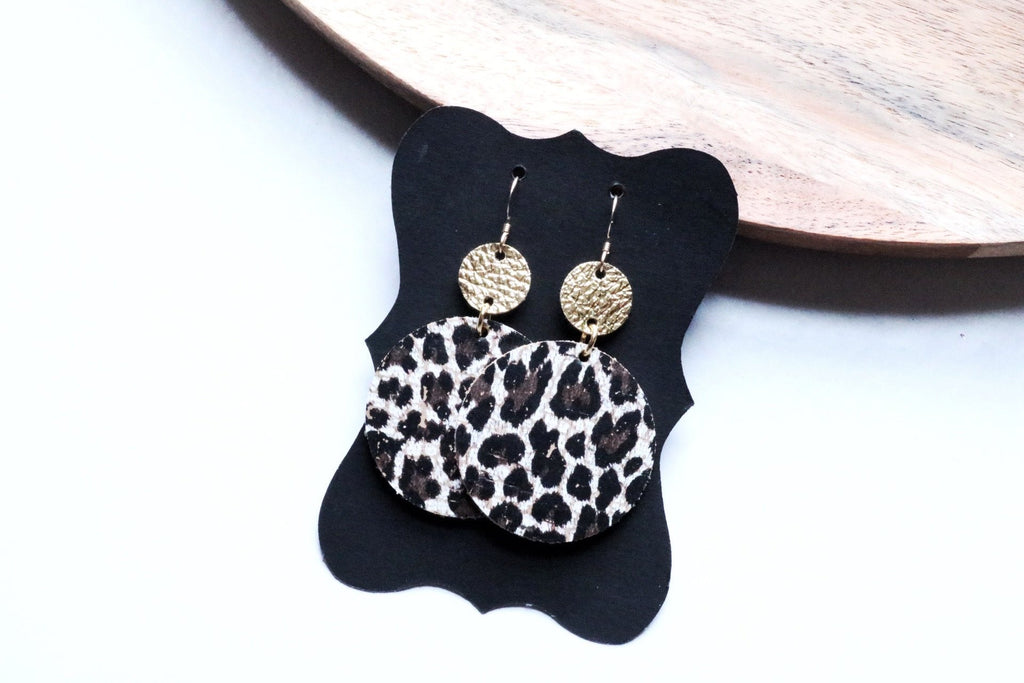 Cheetah Drop Earrings