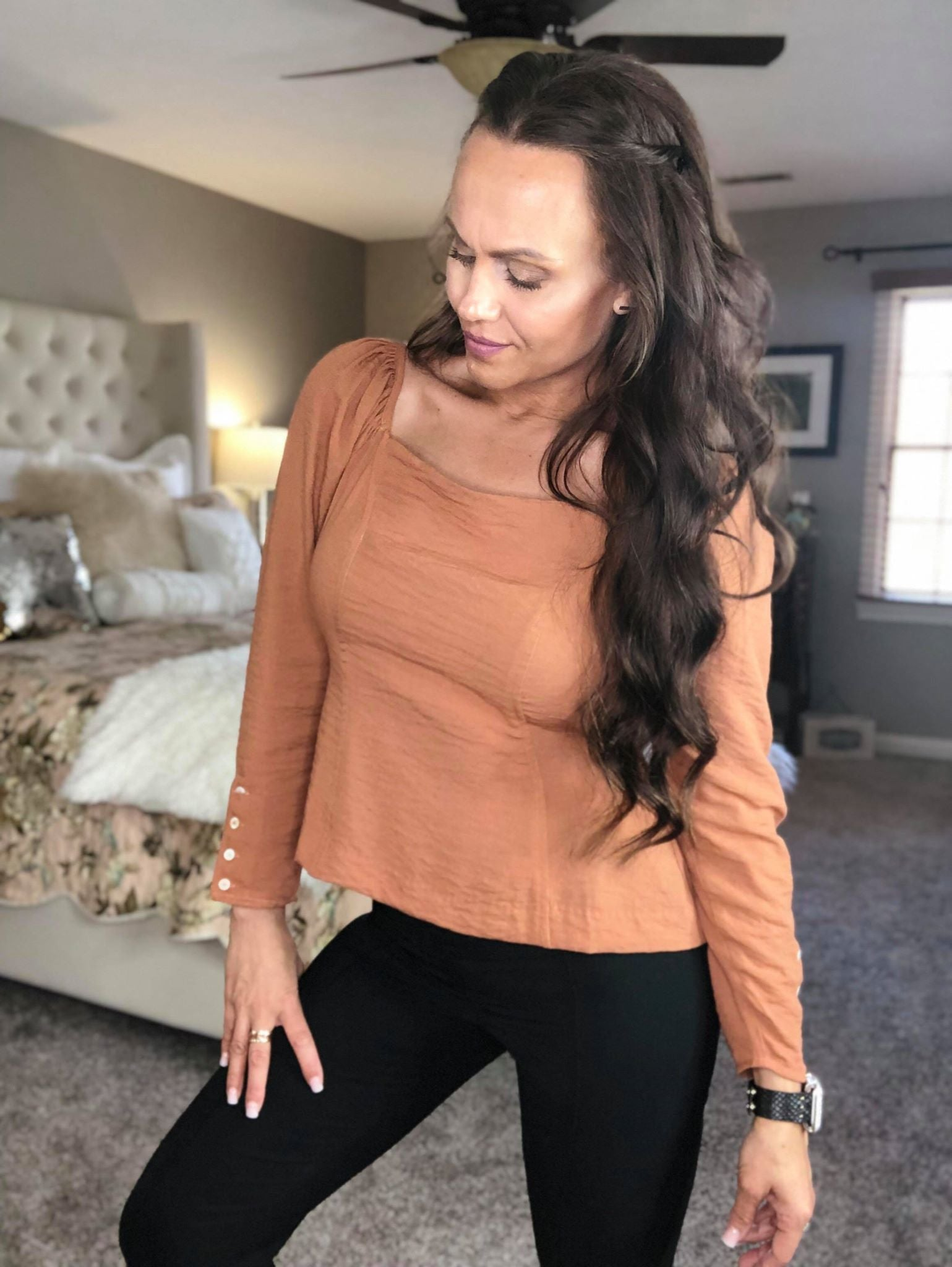 Oh So Fine Rust Blouse