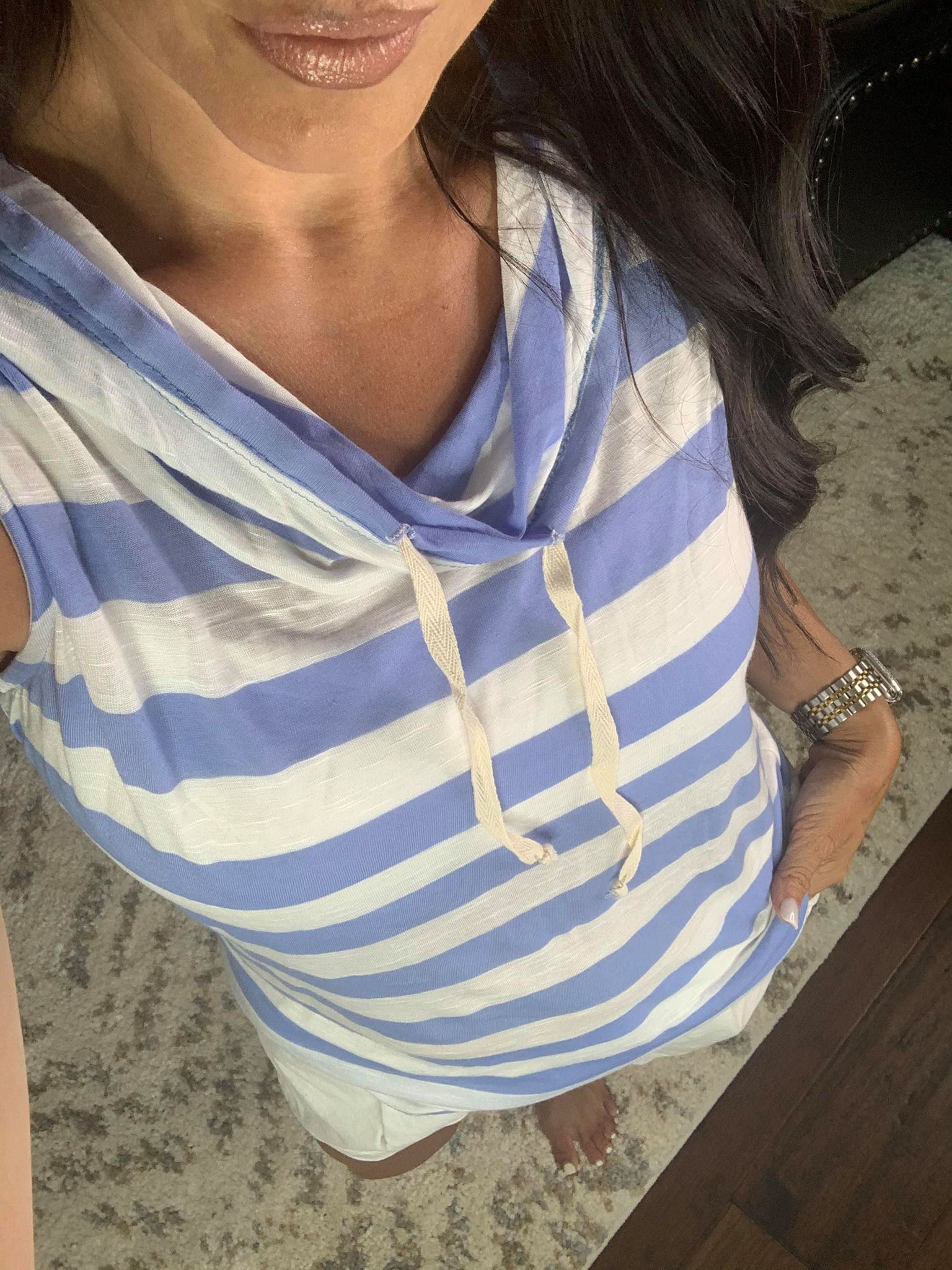 Sunset Soiree Striped Tank