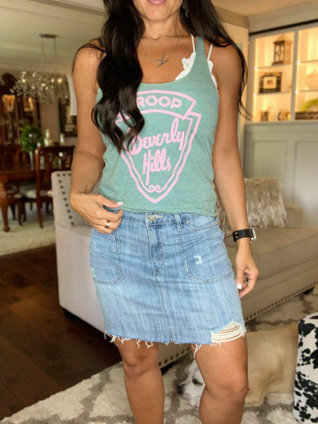 Fresh Threads Jeans Skirt