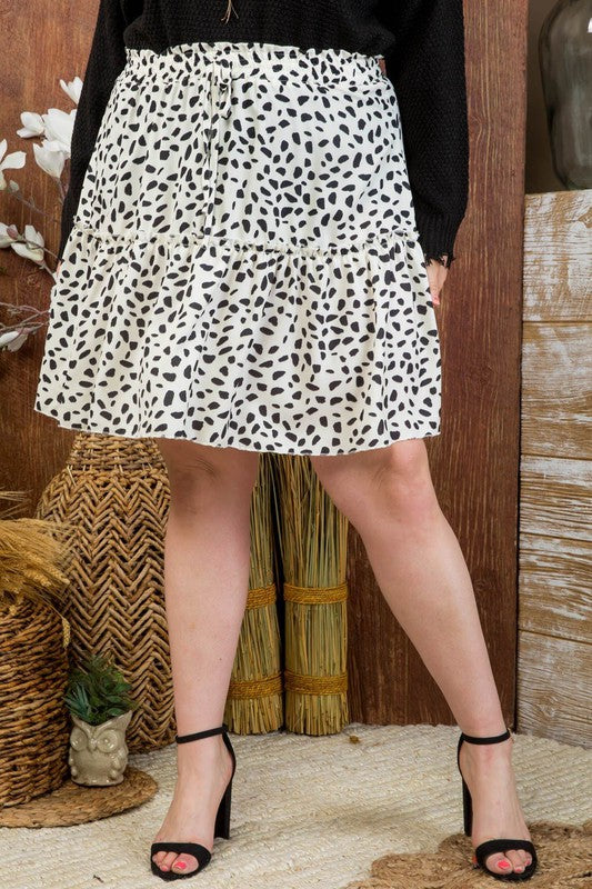 Luther Ruffle Leopard Mini Skirt