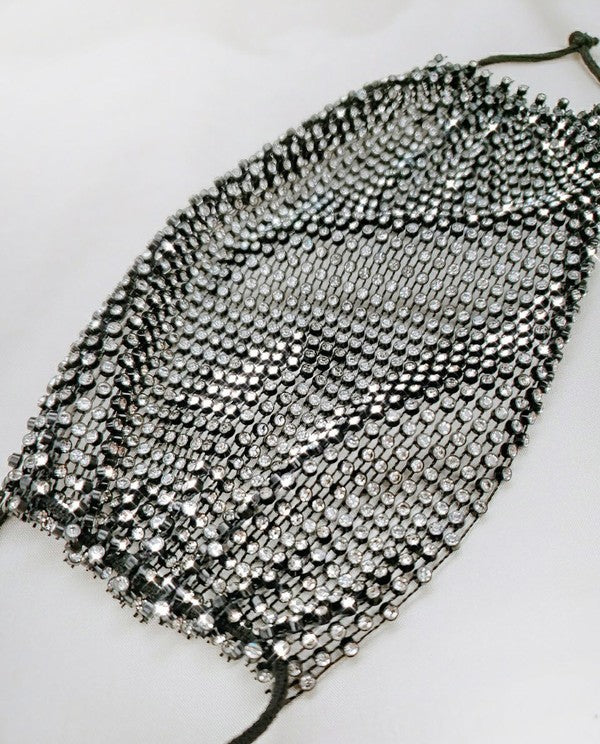 Bling Stone Mesh Fashion Mask