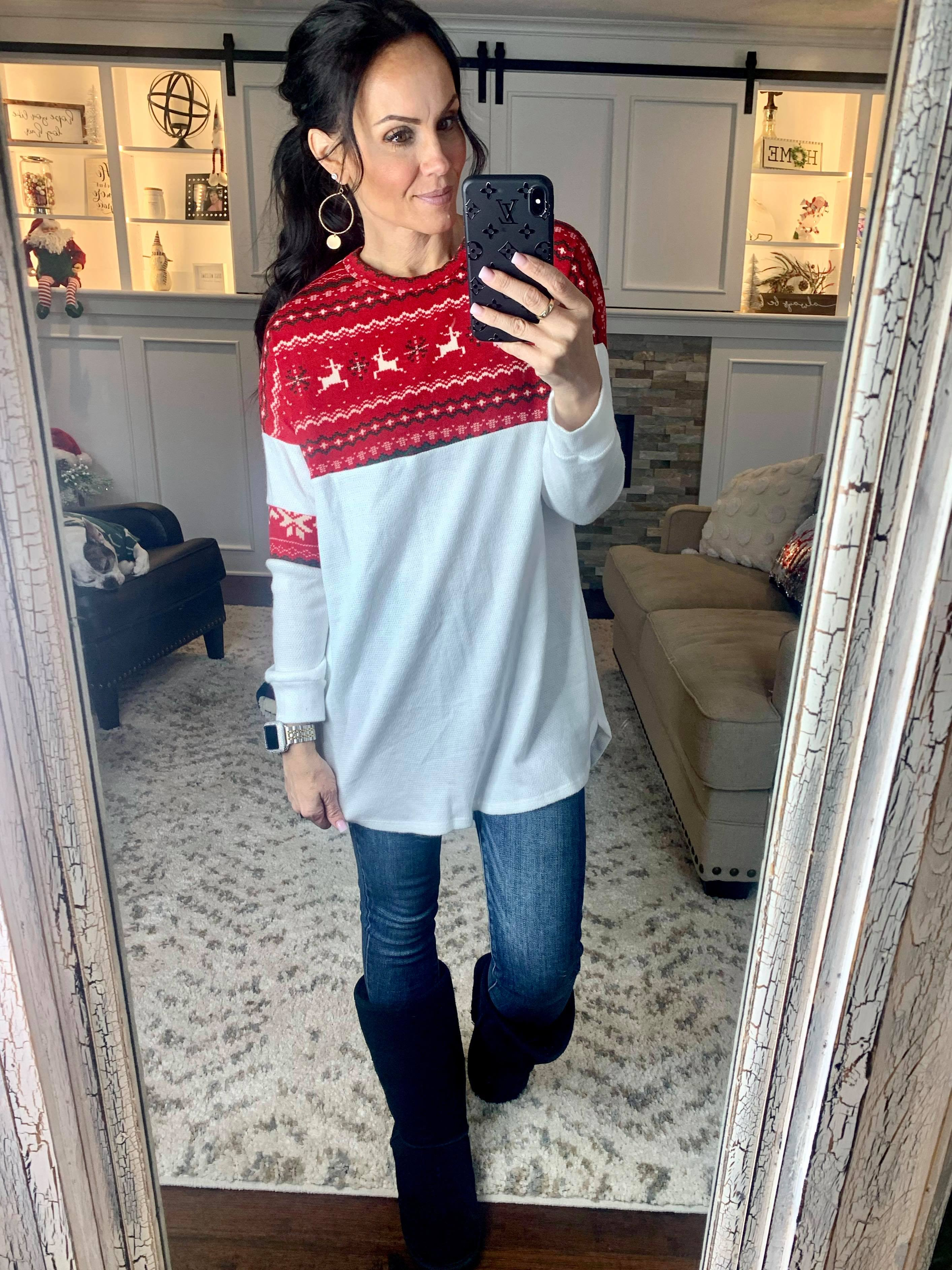 Snowflakes Soft Thermal Cashmere Top
