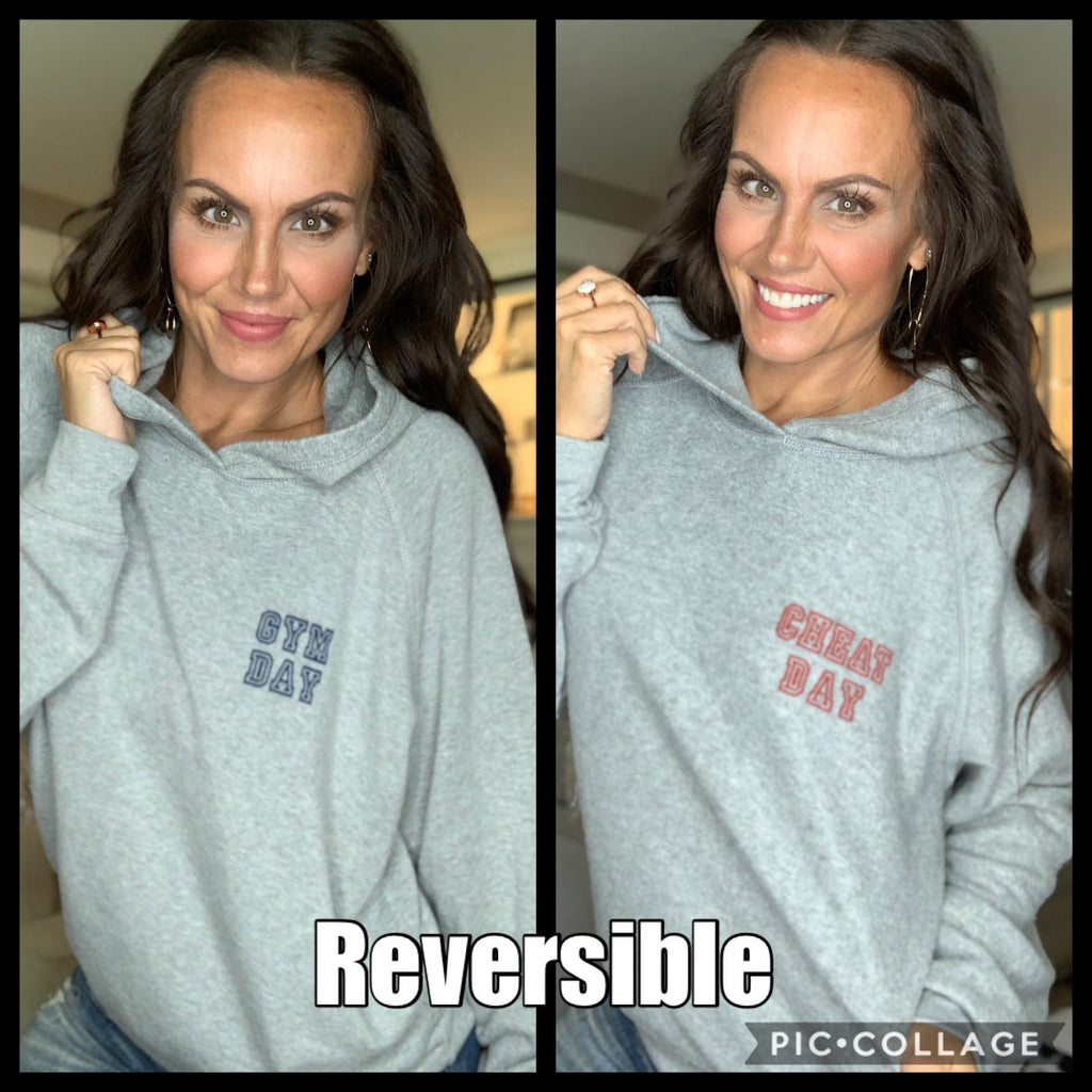 Gym Day/Cheat Day Reversible Hoodie