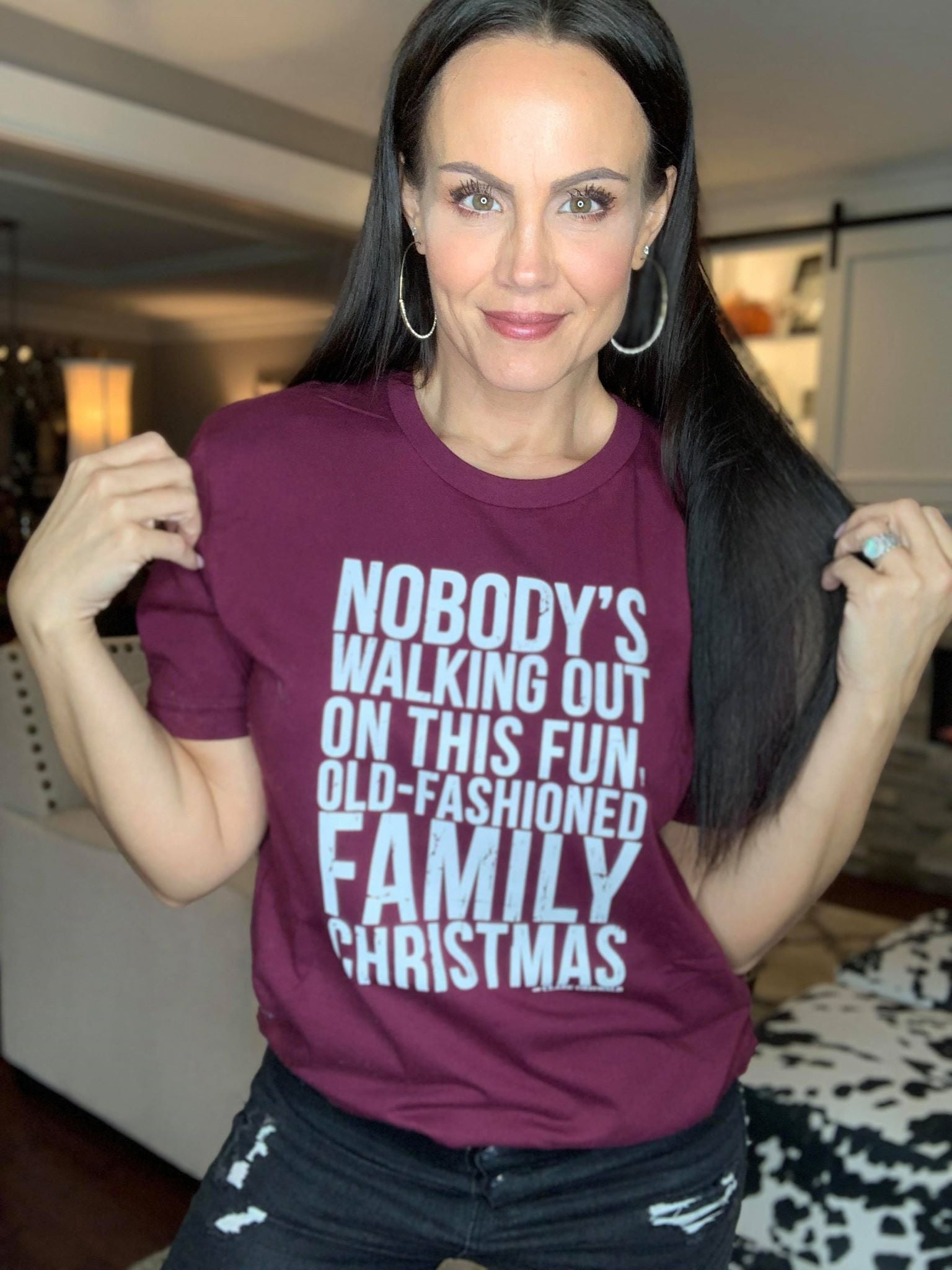 Old Fashioned Family Christmas Tee