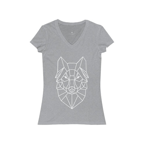 Unleashing Her Wild - Women's Jersey Short Sleeve V-Neck Tee