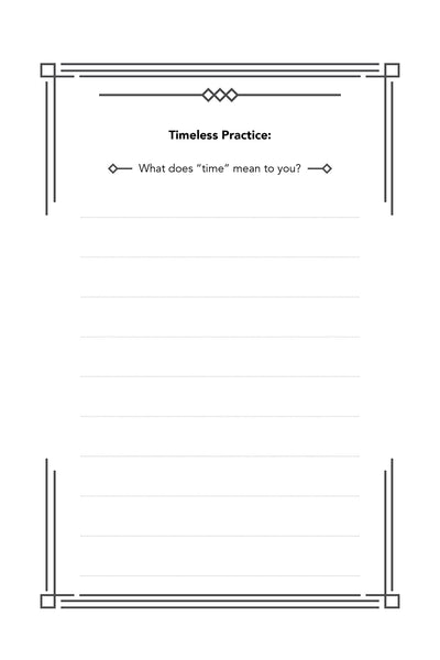 Timeless Practice worksheet from the Dear Time book by Ky-Lee Hanson