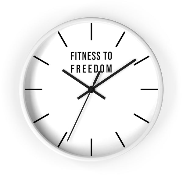 Fitness to Freedom Wall clock