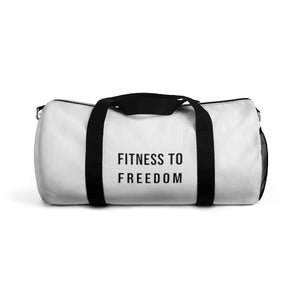 Fitness To Freedom Duffel Bag White