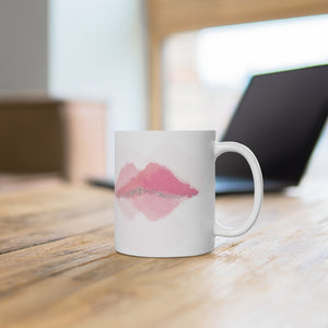 Mountain Lips She's No Longer Silent Ceramic Mug 11oz