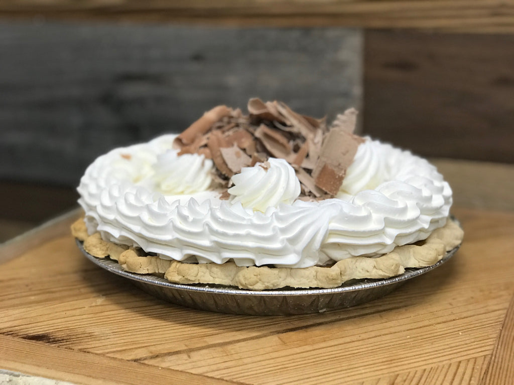 Pumpkin Pie with Whipped Cream & Chocolate