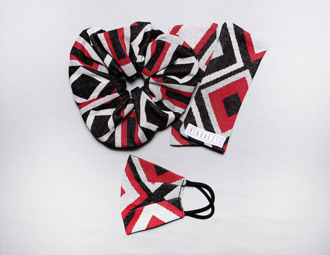 Harlem Mask + Gloves + Scrunchie Set