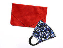 Nolita Mask + Red Nadiyah Clutch