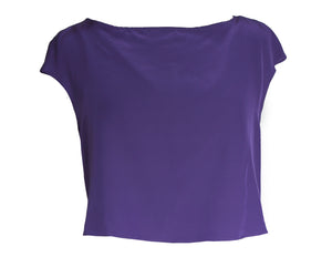 Purple Silk Top
