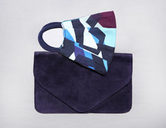 Midtown Mask + Aubergine Nadiyah Clutch