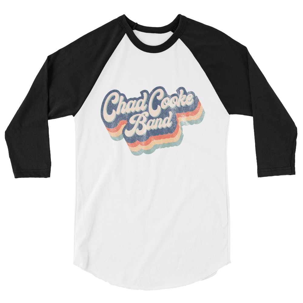 Retro Chad Cooke Band Baseball Tee 3/4 Sleeve