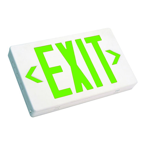 Westgate 3.8W Green Led Two-Circuits Exit Sign 120-277V - White Housing - BuyRite Electric