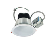 "Nora Lighting NCR2-811540SE3DWSF 18W 8"" Sapphire II Retrofit Spot Type Open Reflector 1500lm 4000K   Clear Diffused / White Flanged Finish  120V Input; Triac/ELV/0-10V dimming"
