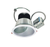 "Nora Lighting NCR2-862540ME2DWSF 30W 8"" Sapphire II Retrofit Narrow Flood Type Wall Wash Reflector 2500lm 4000K   Clear Diffused / White Flanged Finish  227V Input; 0-10V dimming"