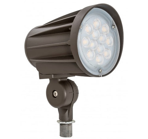 "Westgate 28W 1/2"" Led Bullet Flood Lights Knuckle 60° 120~277V - Bronze - BuyRite Electric"