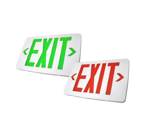 Utopia Lighting TCEX Thin Thermoplastic Exit Sign with Battery Back Up- BuyRite Electric