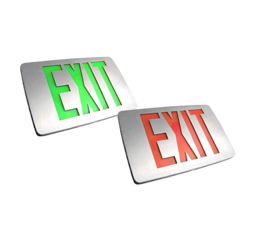 Utopia Lighting TED Thin Die-cast Aluminum Led Exit Sign with Battery Back up & Aluminum Housing- BuyRite Electric