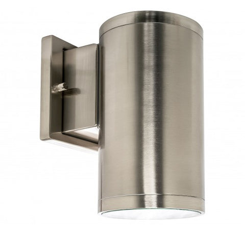 "Westgate 15W 4"" LED Cylinder Lights IP54 12V - Brushed Nickel - BuyRite Electric"