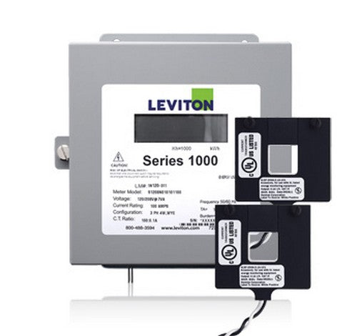 Leviton 1K240-1W Series 1000 Submeter 100A 1P/3W Indoor Kit with 2 Split Core Current Transformers 120 ~ 208V - BuyRite Electric