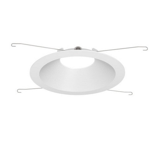 "DMF Lighting DRD2TRD6B 6"" Round Ribbed Deep Baffle Twist and Lock Lighting Trim with Silver Reflector / White Flange - BuyRite Electric"