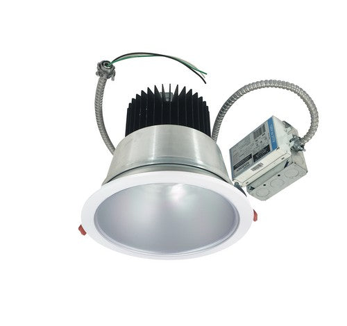 "Nora Lighting NCR2-812535SE3BWSF 30W 8"" Sapphire II Retrofit Spot Type Open Reflector 2500lm 3500K  Black / White Flanged Finish  120V Input; Triac/ELV/0-10V dimming"