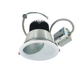 "Nora Lighting NCR2-862535FE3DWSF 30W 8"" Sapphire II Retrofit Flood Type Wall Wash Reflector 2500lm 3500K   Clear Diffused / White Flanged Finish  120V Input; Triac/ELV/0-10V dimming"