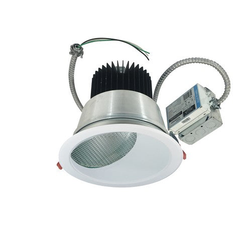 "Nora Lighting NCR2-862527ME5HWSF 30W 8"" Sapphire II Retrofit Narrow Flood Type Wall Wash Reflector 2500lm 2700K  Haze / White Flanged Finish  120-277V Input; 0-10V dimming"