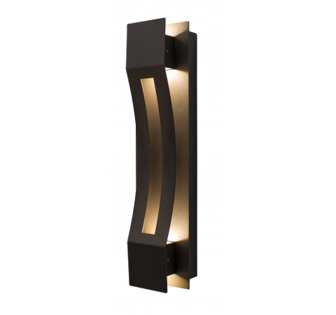 Westgate 20W LED Curve Wall Sconces 100~277V AC - Dark Bronze - BuyRite Electric