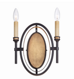 Eurofase Lighting 25644-012 Infinity 2 Light 10 inch Oil Rubbed Sconce Wall Light Bronze Finish